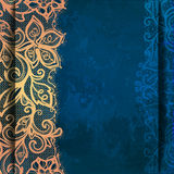 Abstract pattern of lace on a grunge background. Stock Images