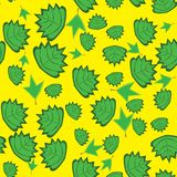 Abstract pattern with Leaves Royalty Free Stock Photos