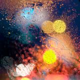 Abstract pattern of light spots and drops of water Royalty Free Stock Photo