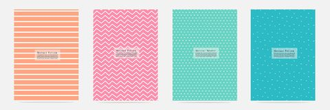 Abstract Pattern With Lines Hand Drawn Set. Vector illustration EPS10 Stock Images