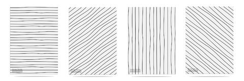Abstract Pattern With Lines Hand Drawn Set. Vector illustration EPS10 Royalty Free Stock Photography