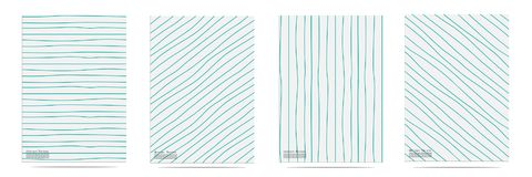 Abstract Pattern With Lines Hand Drawn Set. Vector illustration EPS10 Stock Image