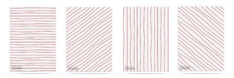 Abstract Pattern With Lines Hand Drawn Set. Vector illustration EPS10 Stock Photo