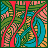 Abstract pattern with lines and waves Royalty Free Stock Images