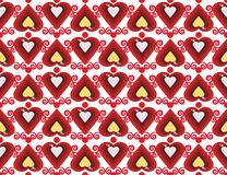 Abstract pattern love diamond hearts. Vector background Stock Illustration