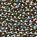 Abstract pattern made up of an eye Royalty Free Stock Image