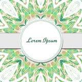 Abstract pattern mandala invitation frame. Mandala background. Colorful creative pattern. Vector illustration.  Stock Images