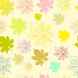 Abstract pattern with maple leaves. Seamless pattern with maple leaves Royalty Free Stock Photos
