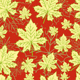 Abstract pattern with maple leaves. Seamless pattern with maple leaves Royalty Free Stock Photography