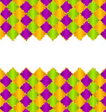 Abstract Pattern for Mardi Gras wirh Green, Purple, Yellow Colors Stock Image