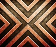 Abstract pattern on metal background Stock Photography
