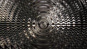 Abstract Pattern of monochromatic circular zig zags stock video