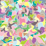 Abstract pattern mosaic seamless pattern. Pastel colors  illustration looks like patchwork or stained-glass window Stock Photography