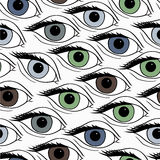 Abstract pattern with open eyes. Stock Photography