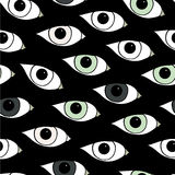 Abstract pattern with open eyes. Stock Photo