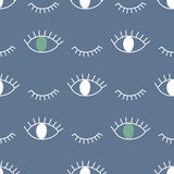 Abstract pattern with open and winking eyes. Royalty Free Stock Photography