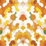 Abstract pattern orange background vector Royalty Free Stock Images