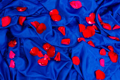 Abstract pattern with petals of roses Stock Photo