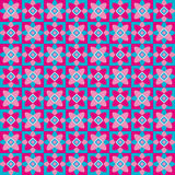 Abstract pattern with pink and blue floral shapes Royalty Free Stock Images