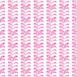 Abstract pattern of pink hearts on a white background. Stock Photos