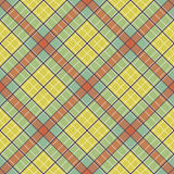 Abstract Pattern with Plaid Fabric on a colorful yellow background. Stock Image