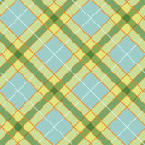 Abstract Pattern with Plaid Fabric on a colorful yellow background. Stock Photography