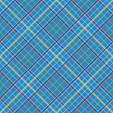 Abstract Pattern with Plaid Fabric on a dark blue background. Royalty Free Stock Photos