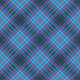 Abstract Pattern with Plaid Fabric on a dark blue background. Stock Photography