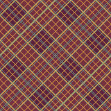 Abstract Pattern with Plaid Fabric on a dark brown background. Stock Photos
