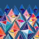 Abstract pattern of polygons Royalty Free Stock Images