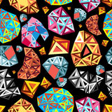 Abstract pattern of polygons Stock Images