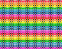 fragments of mobile phone cameras make up the pattern tile the colors of the rainbow Stock Image
