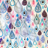Abstract pattern raindrops Royalty Free Stock Photos