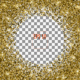 Abstract pattern of random falling 3d gold stars on transparent Royalty Free Stock Photos