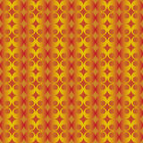 Abstract pattern with red and golden floral decorations Stock Photos