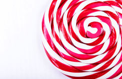 Abstract pattern of red and white candy Stock Photo