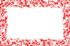 Abstract pattern, red and white colors, design background with empty center, text place Royalty Free Stock Photography