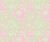 Abstract pattern with rose flowers Stock Images