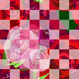 Abstract pattern of rose  red, pink Stock Photo