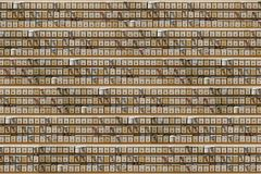 Abstract pattern of rows of mailboxes. Illustration of a seamless repeating pattern of many letter post boxes. royalty free illustration
