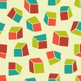 Abstract pattern. Seamless geometric wallpaper background with squares. Stock Photos