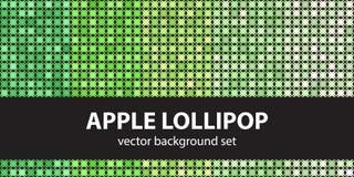 Abstract pattern set Apple Lollipop Stock Image