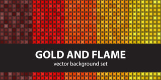 Abstract pattern set Gold and Flame royalty free illustration