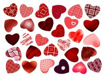 Abstract Pattern. Set Of Hearts, Valentine. Royalty Free Stock Image