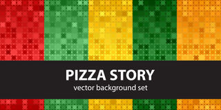 Abstract pattern set Pizza Story Stock Photography