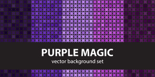 Abstract pattern set Purple Magic Royalty Free Stock Images