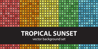 Abstract pattern set Tropical Sunset stock illustration