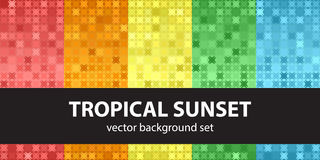 Abstract pattern set Tropical Sunset Stock Photo