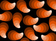 Abstract pattern in shades. Background with abstract pattern in shades of orange and brown Stock Illustration