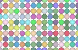 Abstract pattern shape, for graphic design, artistic. Group, sphere, wallpaper & multiple. Colored 3D sphere, circle or ellipse pattern for design wallpaper Stock Photography
